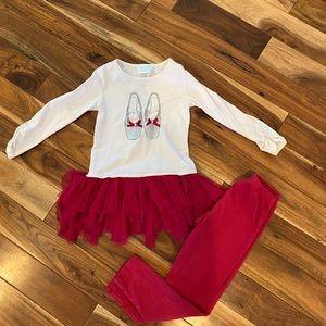 Biscotti two piece size 6 outfit ballerina tutu